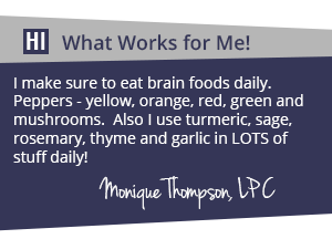 Monique Thompson - What works for me